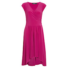 Buy Lauren Ralph Lauren Alhakata Dress, Wild Berry Online at johnlewis.com