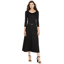 Buy Lauren Ralph Lauren Sansa Belted Maxi Dress, Black Online at johnlewis.com