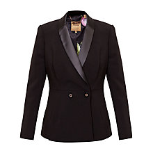 Buy Ted Baker Double Breasted Tux Blazer, Black Online at johnlewis.com