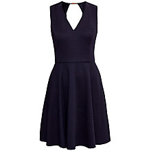 Buy Ted Baker Contrast Panel Skater Dress, Dark Blue Online at johnlewis.com