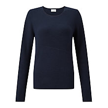 Buy Jigsaw Tranverse Rib Jumper, Ink Online at johnlewis.com
