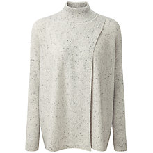 Buy Pure Collection Cashmere Wrap Front Poncho, Heather Grey Fleck Online at johnlewis.com