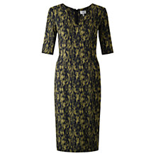 Buy Jigsaw Cyanograph Floral Dress, Golden Moss Online at johnlewis.com