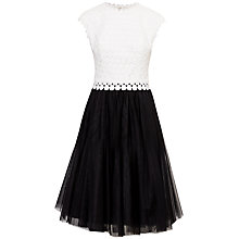 Buy Ted Baker Laeci Scalloped Edge Tutu Dress, Black Online at johnlewis.com