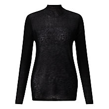 Buy Jigsaw Sheer Yoke Jumper, Black Online at johnlewis.com