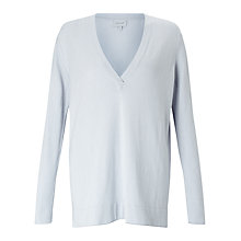 Buy Jigsaw Cotton-Cashmere V-Neck Jumper Online at johnlewis.com