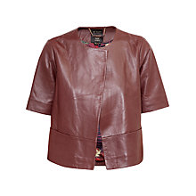 Buy Ted Baker Short Sleeve Leather Jacket Online at johnlewis.com