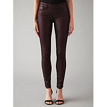 Buy Paige Verdugo Coated Super Skinny Jeans, Wine Online at johnlewis.com
