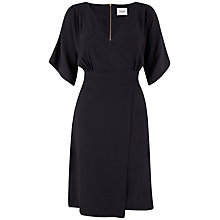 Buy Closet Kimono Wrap Dress, Black Online at johnlewis.com
