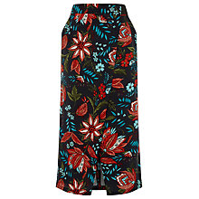 Buy Warehouse Botanical Drawn Floral Skirt, Black Pattern Online at johnlewis.com