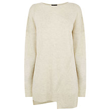 Buy Warehouse Step Hem Jumper, Cream Online at johnlewis.com