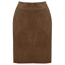 Buy Warehouse Suede Skirt, Brown Online at johnlewis.com