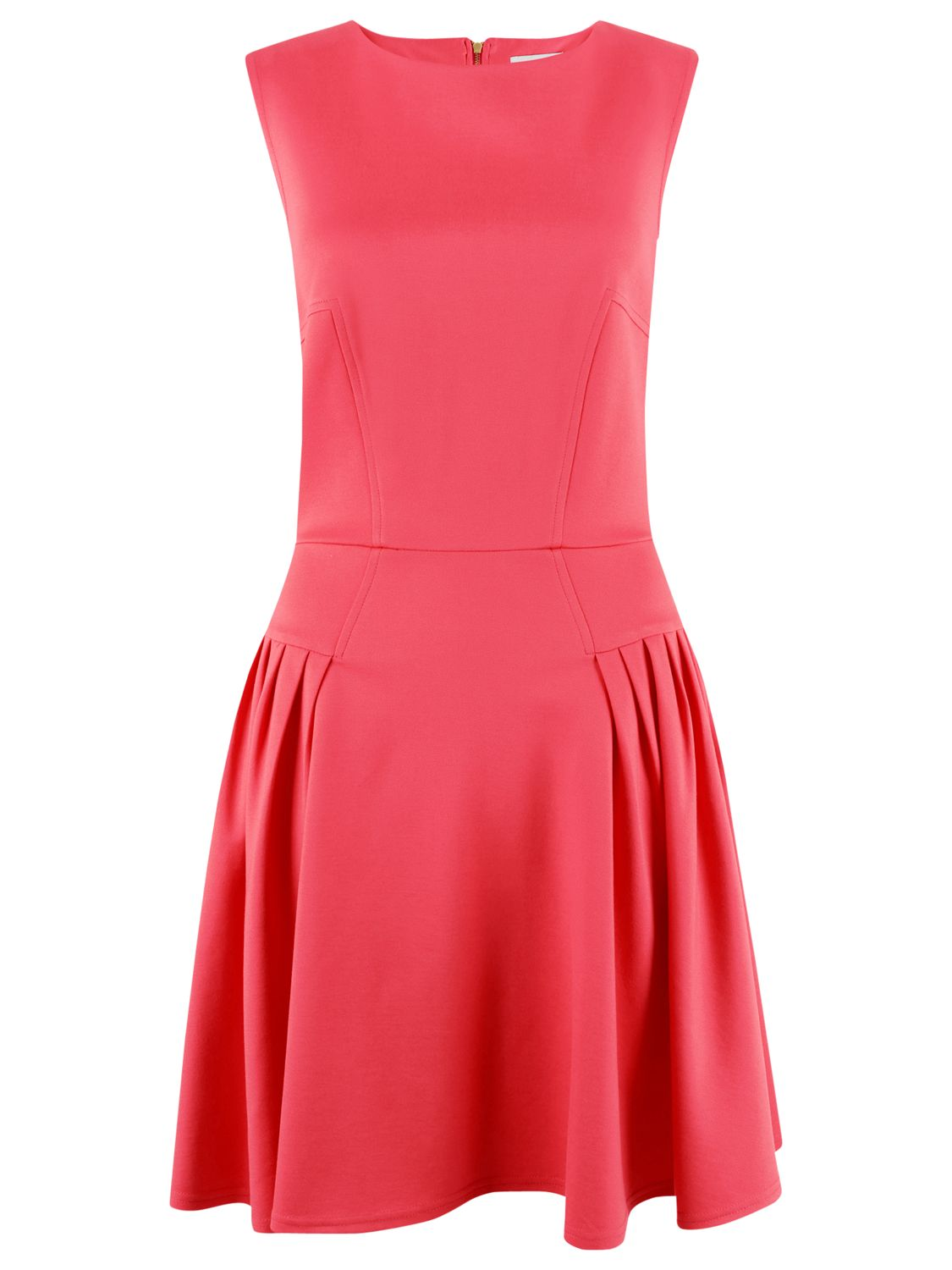 Closet Closet Fit And Flare Dress, Coral