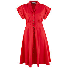 Buy Closet Collar Roll Dress, Red Online at johnlewis.com