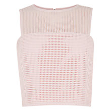 Buy Warehouse Linear Shell Top, Light Pink Online at johnlewis.com