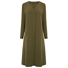 Buy Warehouse Dropped Waist Shirt Dress, Khaki Online at johnlewis.com