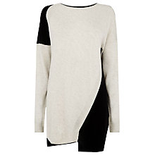 Buy Warehouse Block Step Hem Jumper, Multi Online at johnlewis.com