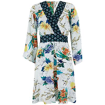 Closet Bird Print Kimono Dress, Multi