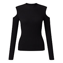 Buy Miss Selfridge Rib Cold Shoulder Top Online at johnlewis.com