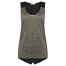 Buy Oasis Crinkle Foil Vest, Black Online at johnlewis.com