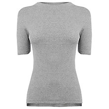 Buy Warehouse Rib T-Shirt, Light Grey Online at johnlewis.com