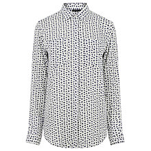 Buy Warehouse Squiggle Print Shirt, Neutral Online at johnlewis.com