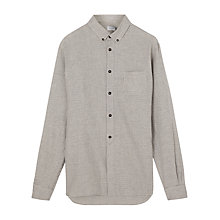 Buy Jigsaw Mouline Regular Button Shirt, Black Online at johnlewis.com