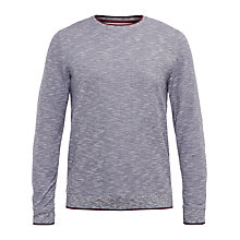 Buy Ted Baker Nico Space Dye Jumper, Grey/Red Online at johnlewis.com