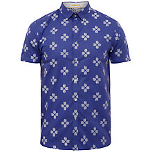Buy Ted Baker Hardcor Short Sleeve Shirt, Navy Online at johnlewis.com