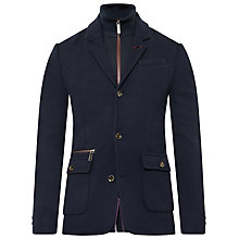 Buy Ted Baker Dom Funnel Neck Jersey Jacket, Navy Online at johnlewis.com