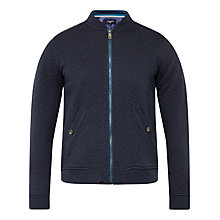 Buy Ted Baker Bruno Zip Jumper, Navy Online at johnlewis.com