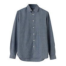 Buy Jigsaw Selvedge Chambray Slim Shirt, Chambray Online at johnlewis.com