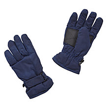Buy John Lewis Children's Wax Gloves, Navy Online at johnlewis.com