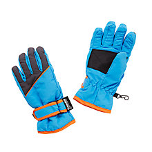 Buy John Lewis Children's Retro Ski Gloves, Blue Online at johnlewis.com