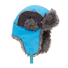 Buy John Lewis Children's Retro Ski Trapper Hat, Blue Online at johnlewis.com