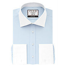 Buy Thomas Pink Frederick Plain Slim Fit Double Cuff Winchester Shirt, Pale Blue Online at johnlewis.com