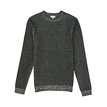 Buy Reiss Tiger Flecked Jumper, Green Online at johnlewis.com