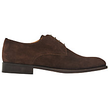 Buy Reiss Porter Suede Derby Shoes, Dark Brown Online at johnlewis.com