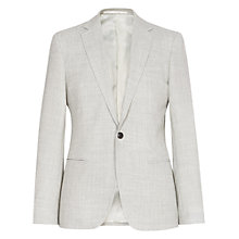 Buy Reiss Elliot Open Weave Wool Blazer, Grey Online at johnlewis.com