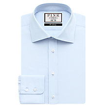 Buy Thomas Pink Frederick Plain Slim Fit XL Sleeve Shirt, Pale Blue Online at johnlewis.com