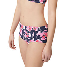 Buy Joules Rimini Orchid Print Tankini Shorts, French Navy Online at johnlewis.com