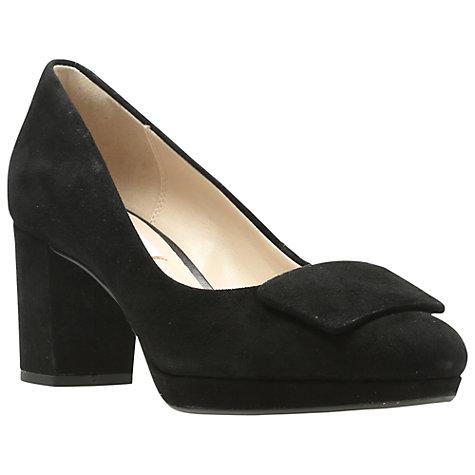 Wide Front Block Heel Court Shoes