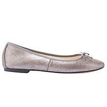 Buy Mint Velvet Charli Flat Ballet Pumps, Metallic Online at johnlewis.com