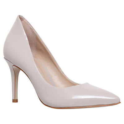 KG by Kurt Geiger Bella Pointed Toe Stiletto Court Shoes, Nude Leather