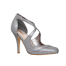Buy Miss KG Natalie Stiletto Heeled Court Shoes, Gunmetal Fabric Online at johnlewis.com