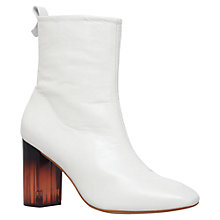 Buy KG by Kurt Geiger Strut Block Heeled Ankle Boots, White Online at johnlewis.com
