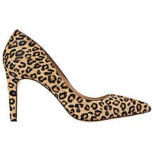 Buy Mint Velvet Evelyn Pointed Toe Stiletto Court Shoes, Leopard Online at johnlewis.com