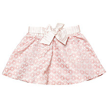 Buy Margherita Kids Baby Jacquard Daisy Skirt, Pink Icing Online at johnlewis.com