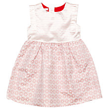 Buy Margherita Kids Girls' Jacquard Daisy Stripe Dress, Pink Icing Online at johnlewis.com