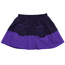 Buy Margherita Kids Baby Colour Blocked Skirt, Purple/Black Online at johnlewis.com